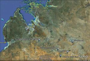 Area showing rough location of the bush schools