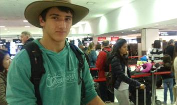 Leaving Sydney airport for LAX